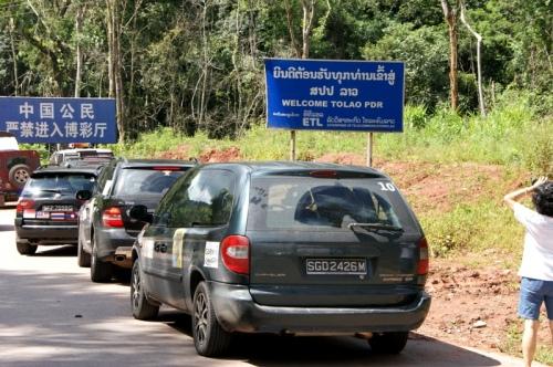 At the Laos border